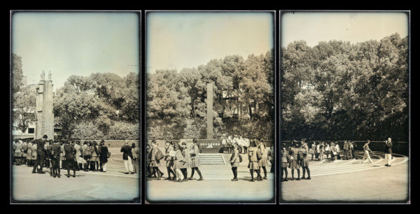 A Maquwtte for the Ground Zero No.1  Peace Memorial Park Ground Zero for the Nagasaki A-Bomb  March 15  2014, Daguerreotype, edition of 3, 12 x 53 cm ©Takashi Arai