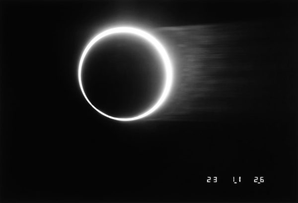 The Last Golden Ring Eclipse in Japan, Yomitanson, Okinawa, 1987, gelatin silver print : 1987, 11 x 14 in ©Kikuji Kawada