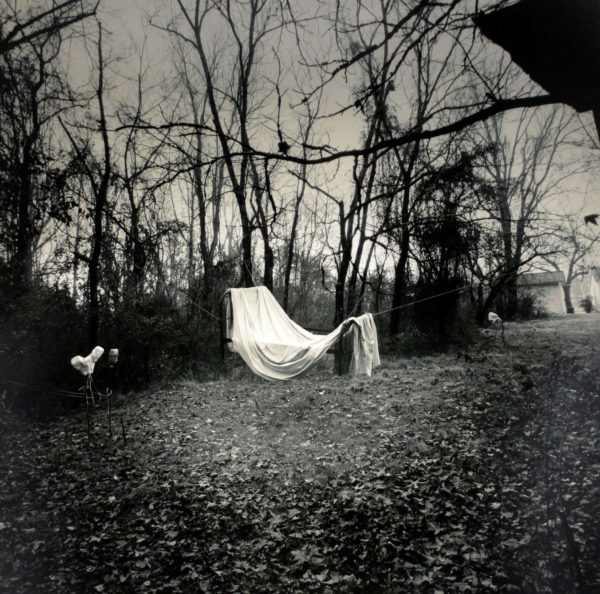 Great-Grandmother's Bed  1998, toned silver print, 16 x 20 in ©Elijah Gowin