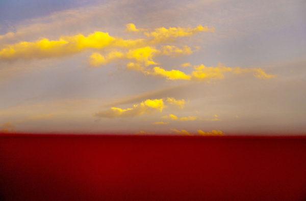 Red Horizon, Exit Sun, pigment inkjet print : 2016, limited edition of 5, 594x420mm ©Kikuji Kawada