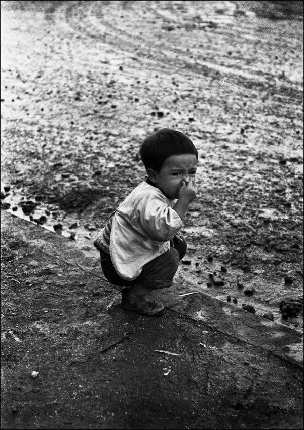 Muddy Road, Ikebukuro, 1953, digital pigment print : 2008, limited edition of 5, 330x500mm ©Kikuji Kawada