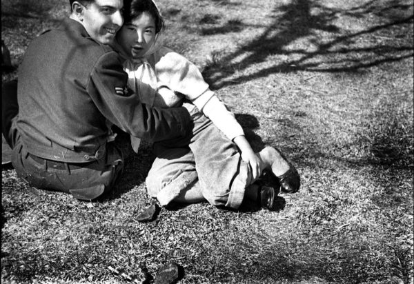 GI and a Girl, Ueno Park, 1953, digital pigment print : 2008, limited edition of 5, 330x500mm ©Kikuji Kawada