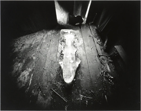 Ice Fish  Danville  Virginia  1971, gelatin silver print, 8 x 10 in ©Emmet Gowin