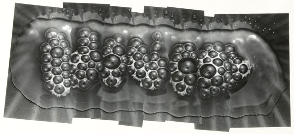 Bubbles of Water 202-II,  2002, gelatin silver print on watercolor paper with glue, 210×470mm limited edition #1/1 ©Yoshihiko Ito