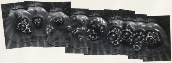 Bubbles of Water 205-II,  2002, gelatin silver print on watercolor paper with glue, 240×695mm limited edition #1/1 ©Yoshihiko Ito