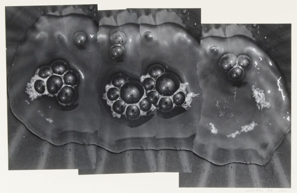 Bubbles of Water 213 S-II,  2003, gelatin silver print on watercolor paper with glue, 185×285mm limited edition #1/1 ©Yoshihiko Ito