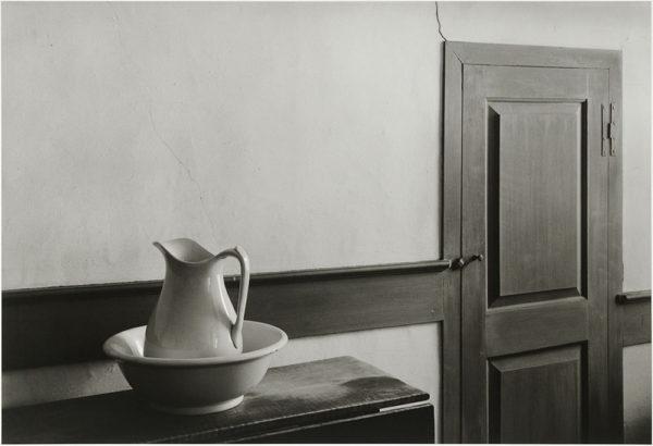 "Shaker Interior  Sabbathday Lake  1971, gelatin silver print:1981, 9 x 13 1/2"" on board ©George Tice"