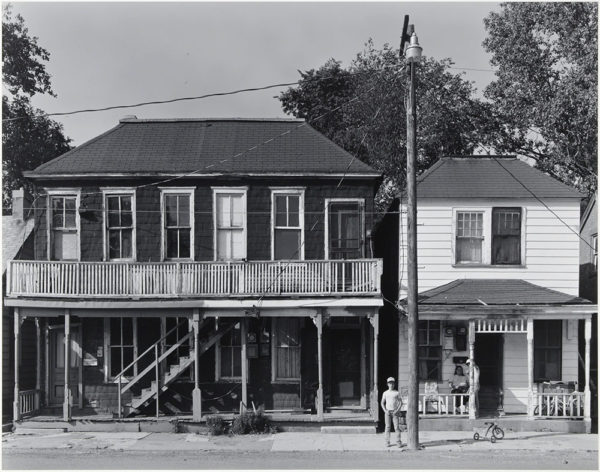 "South Main Street  Hannibal  Missouri  1984, gelatin silver print:1986, 10 1/2 x 13 1/2"" on board ©George Tice"