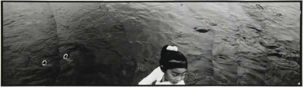 Carps and a Girl  2007, gelatin silver print on watercolor paper with glue, 115×405mm limited edition #1/1 ©Yoshihiko Ito
