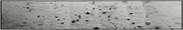 Rain drops - Ⅲ  2007, Gelatin silver print on watercolor paper with glue, 277×1131mm, ©Yoshihiko Ito