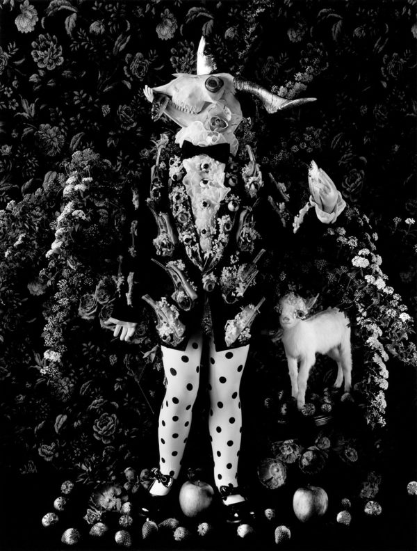 Goat boy 2,   gelatin silver print:2018,   16x20 in,   limited edition of 15,   ©Michiko Kon