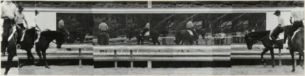 Scenery with horses・II  1999, Gelatin silver print on watercolor paper with glue, 170×687mm, limited edition: #1/1 ©Yoshihiko Ito