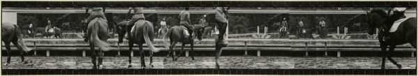 Scenery with horses・VI  1999-2000, Gelatin silver print on watercolor paper with glue, 238×1324mm, limited edition: #1/1 ©Yoshihiko Ito