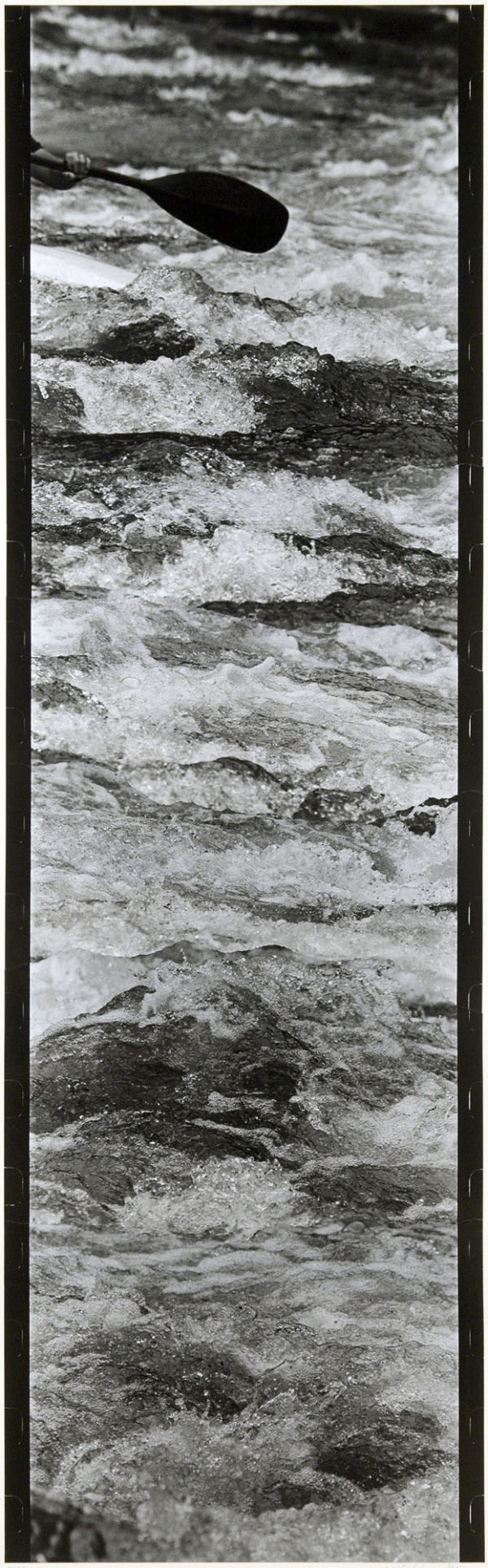Wave and Canoe  2002, Gelatin silver print on watercolor paper with glue, 616×190mm, limited edition: #1/1 ©Yoshihiko Ito