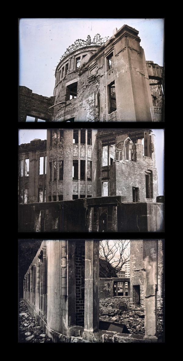 原爆ドームの多焦点モニュメント  スタディ  広島 2014, ダゲレオタイプ, unique, 40 x 20 cm ©Takashi Arai