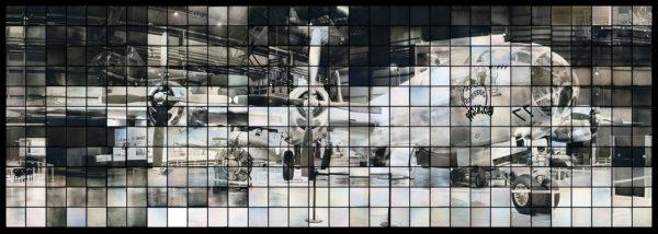 B29: ボックス・カーの多焦点モニュメント  マケット 2014, ダゲレオタイプ, edition of 3, 73 x 220 cm ©Takashi Arai