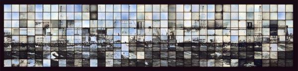 福島第一原発/1Fのための多焦点モニュメント、マケット 2014, ダゲレオタイプ, edition of 3, 67.6 x 259 cm ©Takashi Arai