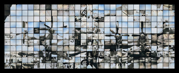 B29: エノラ・ゲイの多焦点モニュメント  マケット 2016, ダゲレオタイプ, edition of 3, 87 x 212.5 cm ©Takashi Arai