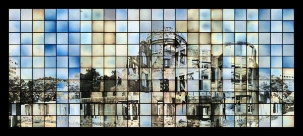 原爆ドームのための多焦点モニュメント、マケット 2014, ダゲレオタイプ, edition of 3, 66 x 152 cm ©Takashi Arai
