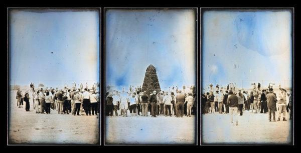 トリニティサイトのためのモニュメント  マケット No.1  2013年4月6日  ニューメキシコ州ホワイトサンズミサイル実験場, ダゲレオタイプ, edition of 3, 17.6 x 36 cm ©Takashi Arai