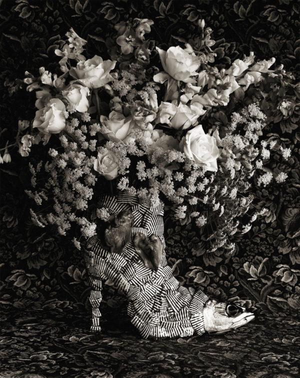 薔薇+赤貝+ブーツ, Platinum Palladium Print, 16x20 in, edition of 7,  ©Michiko Kon