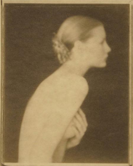 Nu Kirsten profit, 1993, platinum palladium print on Japanese gang paper, 110 x 88 mm ©Paolo Roversi