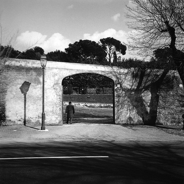 Rome  1968, gelatin silver print mounted to board, 7 1/4 x 7 1/4 in, ©The Estate of Harry Callahan