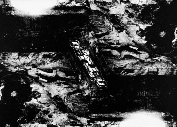 原爆爆心地  天井  広島  1960-65, gelatin silver print : 1985, 18 x 22 in, ©Kikuji Kawada
