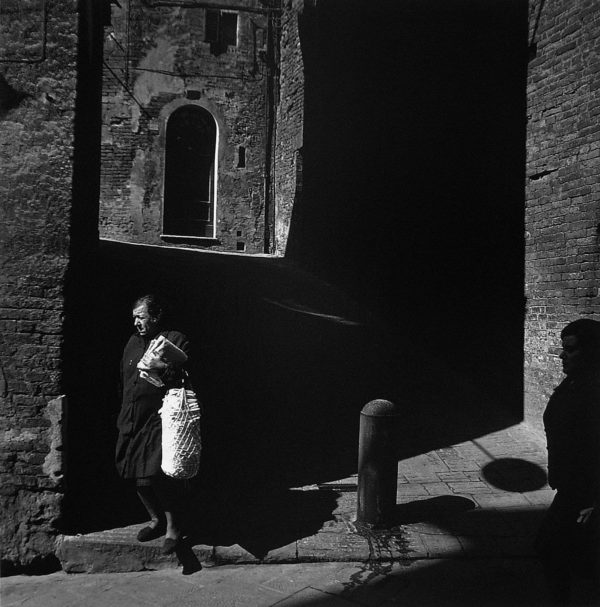 Siena  1968, gelatin silver print, 11 x 11 1/2 in, ©The Estate of Harry Callahan