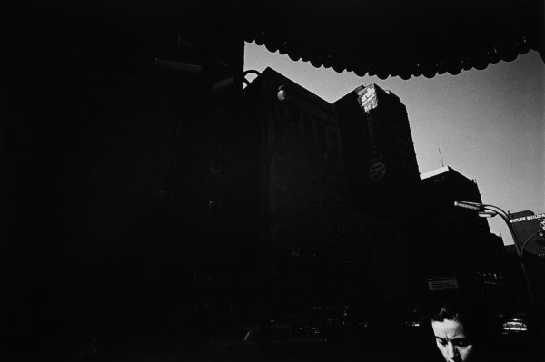 Providence  1971, gelatin silver print mounted to board, 6 1/4 x 9 1/4, ©The Estate of Harry Callahan