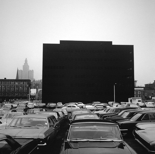 Providence  1974, gelatin silver print mounted to board, 7 x 7 in, ©The Estate of Harry Callahan