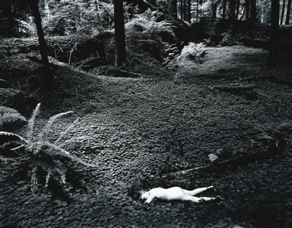 Child in Forest  1951, gelatin silver print, 7 1/2 x 9 1/2 in, ©Bullock Family Photography LLC