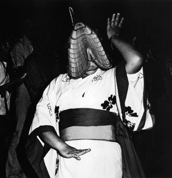 秋田西馬音内 盆踊り 1976年8月18日, gelatin silver print:1980s, 11 x 14 in, ©Issei Suda