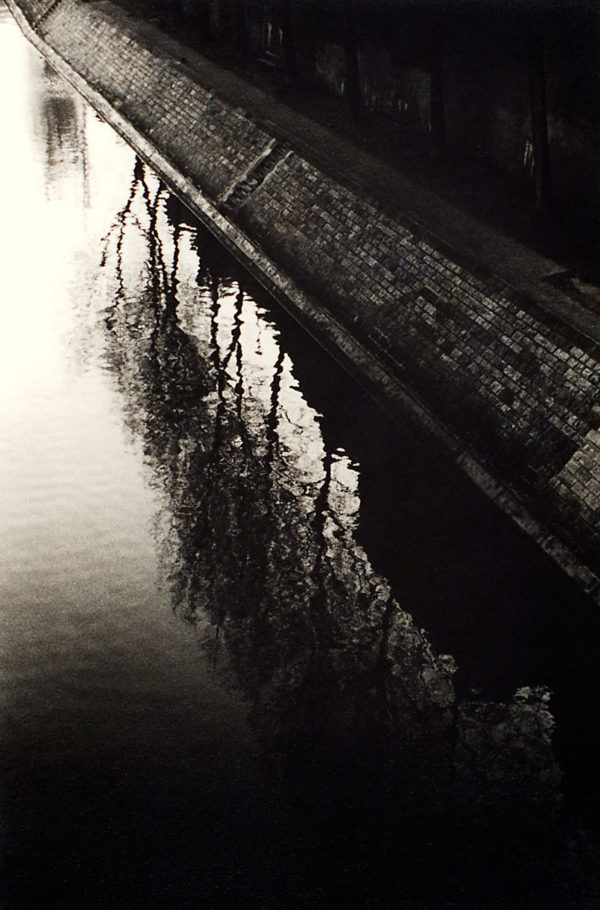 "Quad d'Anjou ""reflection""  1992, toned gelatin silver print, edition of #25/30, 11 x 14 in, ©Tomio Seike"