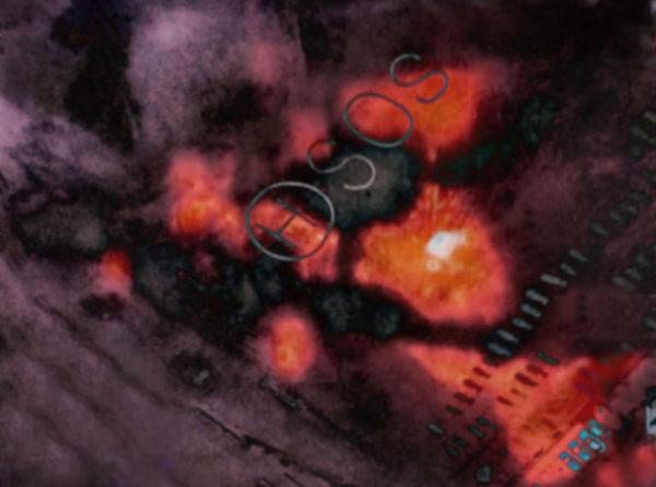 2011.3.11  S.O.S. NHK TV, Pigment inkjet print : 2012, Limited edition of 5, 594x429mm, ©Kikuji Kawada