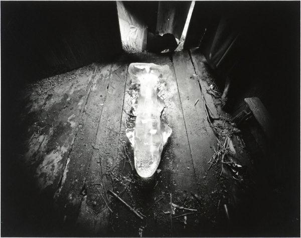 Ice Fish  Danville  Virginia  1971, gelatin silver print, 8 x 10 in ©Emmet Gowin