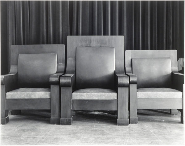 "Exalted Ruler's Chair  Elks' Lodge  Illinois  1987, gelatin silver print:1988, 10 1/2 x 13 1/4"" on board ©George Tice"