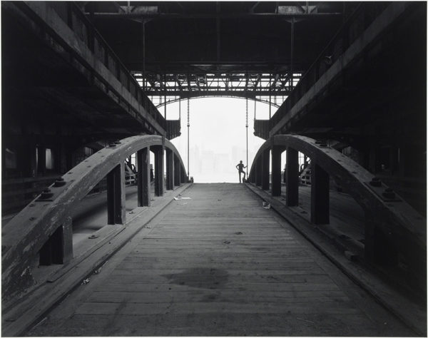 "Ferry Slip  Jersey City  New Jersey  1979, gelatin silver print:1987, 10 1/2 x 13 1/4"" on board ©George Tice"