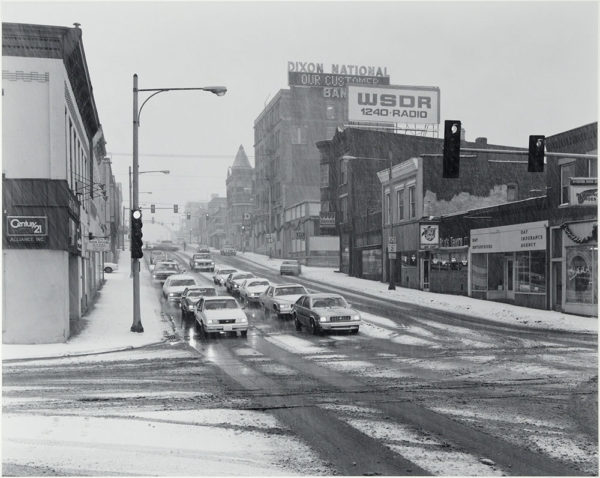 "Garena Avenue  Dixon  Illinois  1986, gelatin silver print:1986, 10 1/2 x 13"" on board ©George Tice"