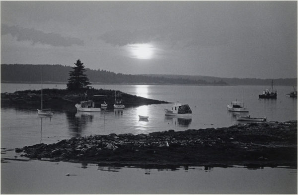 "Port Clyde at Sunset  Maine  1971, gelatin silver print:1986, 6 x 9 1/2"" on board ©George Tice"