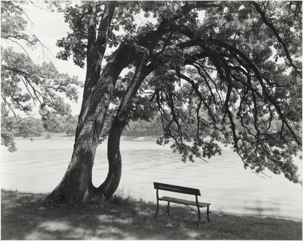 "Rock River  Lowell Park  Dixon  Illinois  1986, gelatin silver print:1986, 10 1/2 x 13 1/4"" on board ©George Tice"