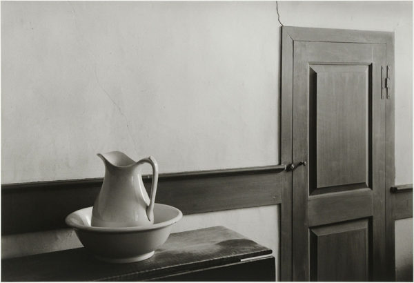 "Shaker Interior  Sabbathday Lake  1971, gelatin silver print:1981, 9 x 13 1/2"" on board ©George Tice"