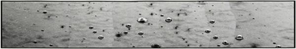 雨垂れ - III  2007, Gelatin silver print on watercolor paper with glue, 277×1131mm, limited edition #1/1 ©Yoshihiko Ito