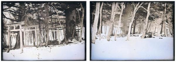 駒形神社  遠野  2015, ダゲレオタイプ, unique, 7 x 30 cm ©Takashi Arai
