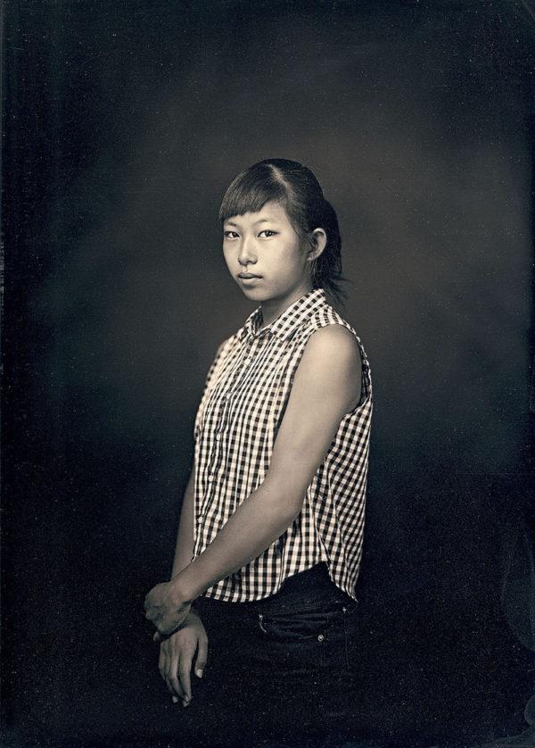 マリコ 13歳  南相馬  2016, ダゲレオタイプ, unique, 16.5 x 11.9 cm ©Takashi Arai